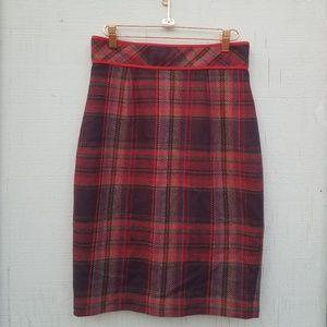 Plenty by Tracy Reese | Wool Blend Plaid Skirt